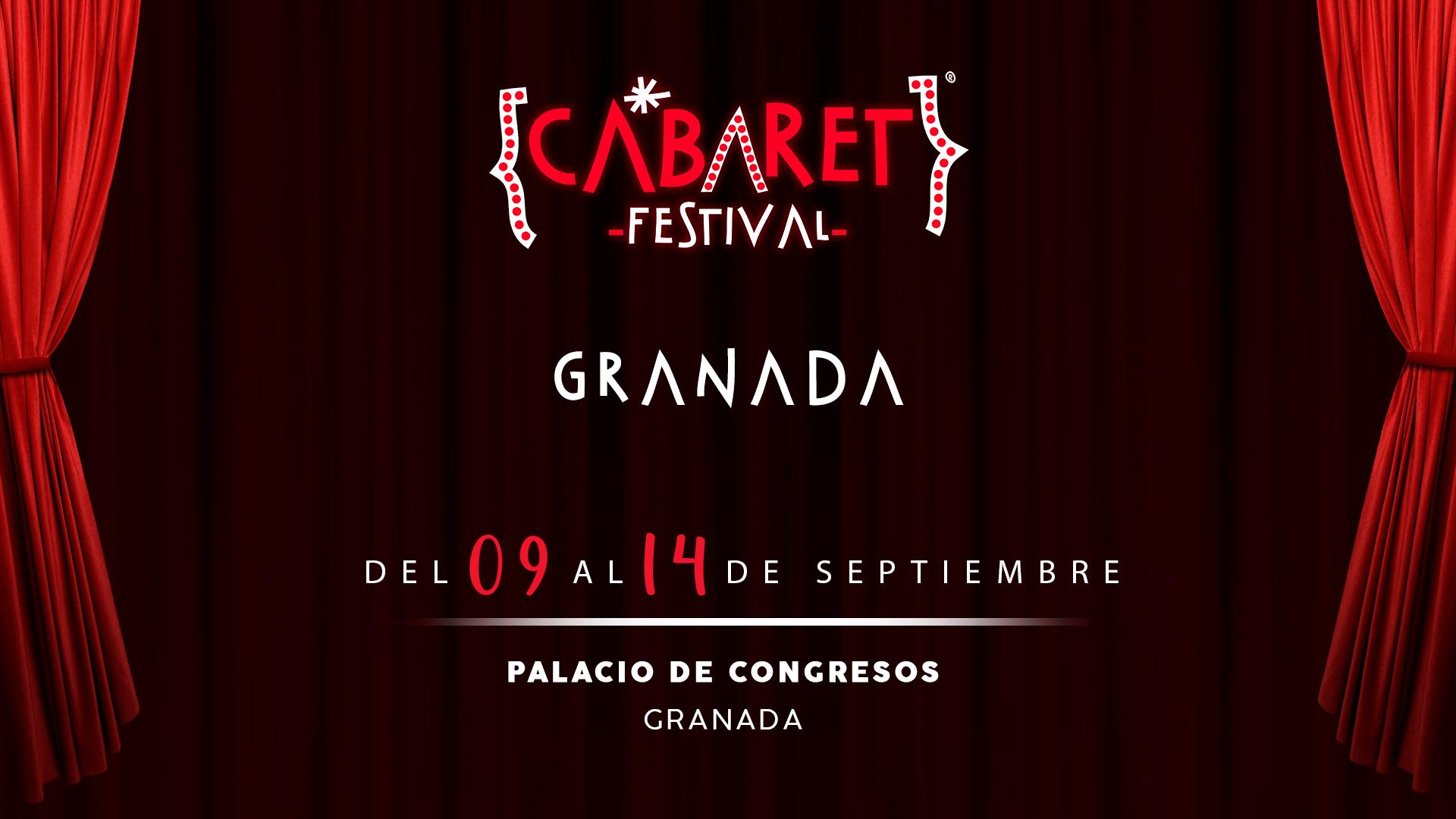 Cabaret Festival anuncia que hará una parada en Granada para llevar a su Palacio De Congresos un ciclo de espectáculos absolutamente completo y espectacular en el que el público podrá disfrutar de la mejor música, danza y comedia